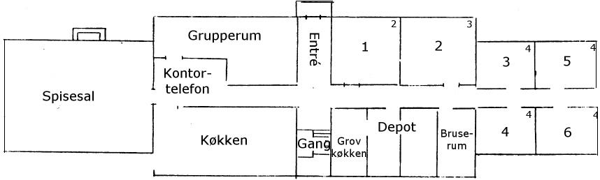 Hovedbygning, stueplan